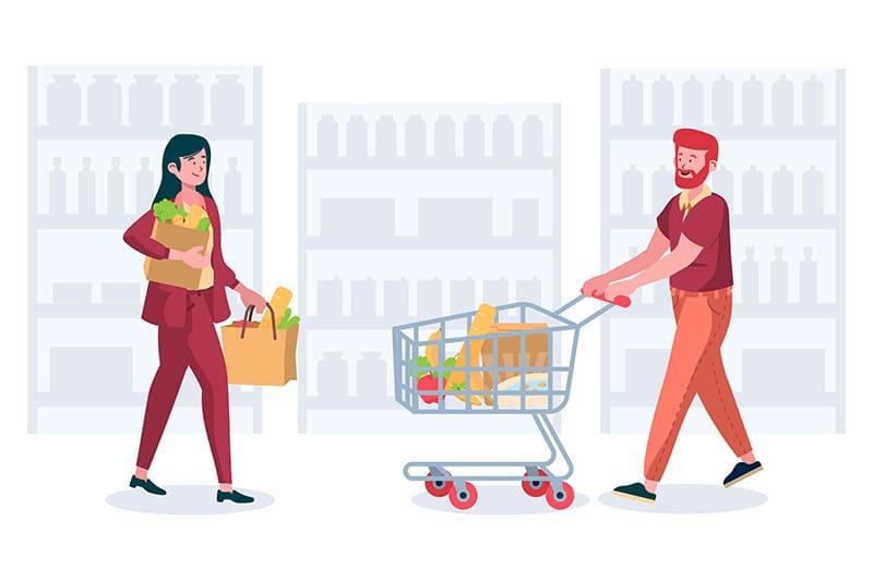 jovem aprendiz americana - pessoas fazendo compras