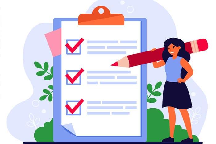 Mentor Profissional Lista de tarefas corpo
